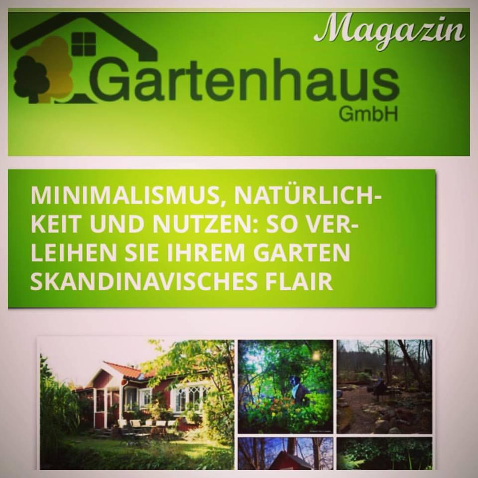 Om den typiska skandinaviska naturliga trädgårdsstilen enligt tyska Gartenhaus Magazin.