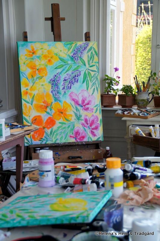 Målning av Lena Linderholm